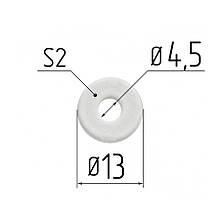 Протекторное термокольцо для натяжных потолков - диаметр 4,5 мм (наружный 13,5мм)