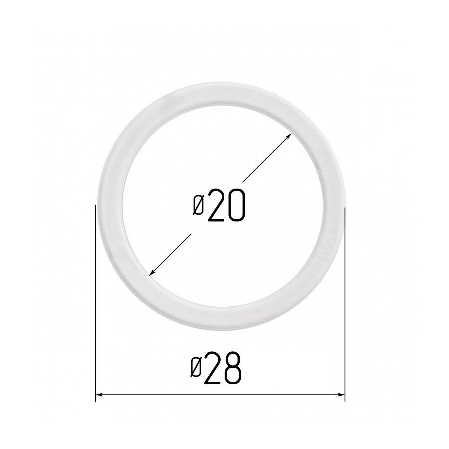 Протекторное термокольцо для натяжных потолков - диаметр 20 мм (наружный 28мм)