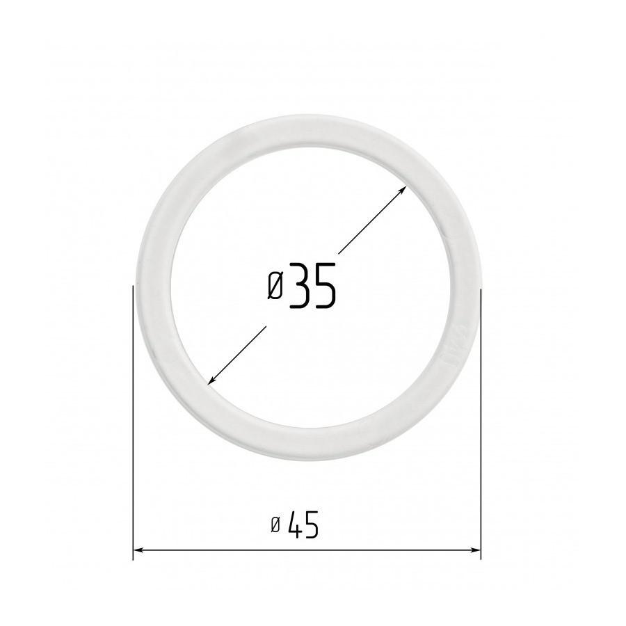 Протекторное термокольцо для натяжных потолков - диаметр 35 мм (наружный 45мм)