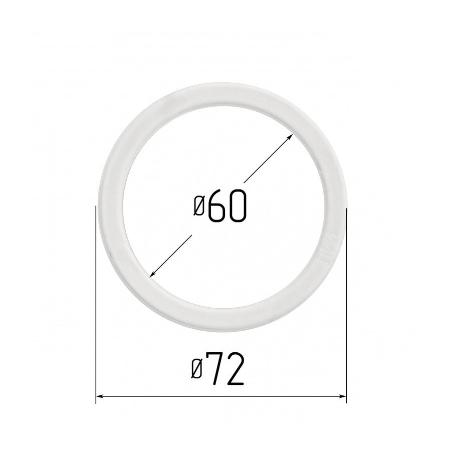Протекторна термокільце для натяжних стель - діаметр 60 мм (зовнішній 71,6 мм)