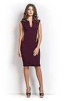 Платье  футляр МОССА бордового цвета