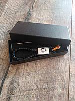 Брелок для автомобильных ключей Skoda  кожаный с логотипом шкода + подарункова коробка