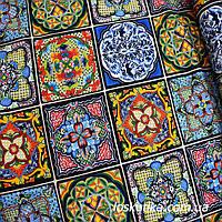 33004 Арабеска  в блоках. Ткань для изделий хендмэйд, для пошива кукол, пэчворка и для декорирования., фото 1