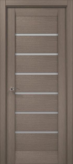 Дверное полотно 2000х910х40 Папа Карло Millenium ML-14 Серый дуб