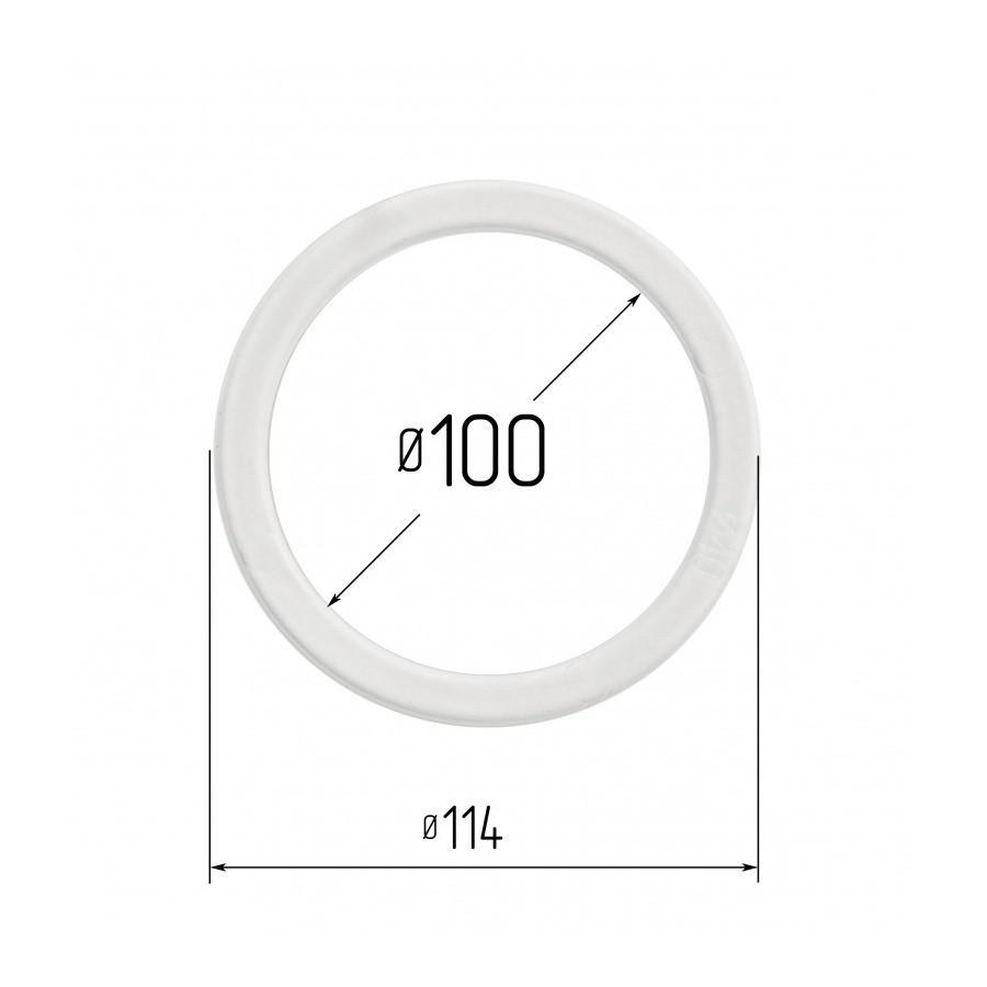 Протекторное термокольцо для натяжных потолков - диаметр 100 мм (наружный 114мм)