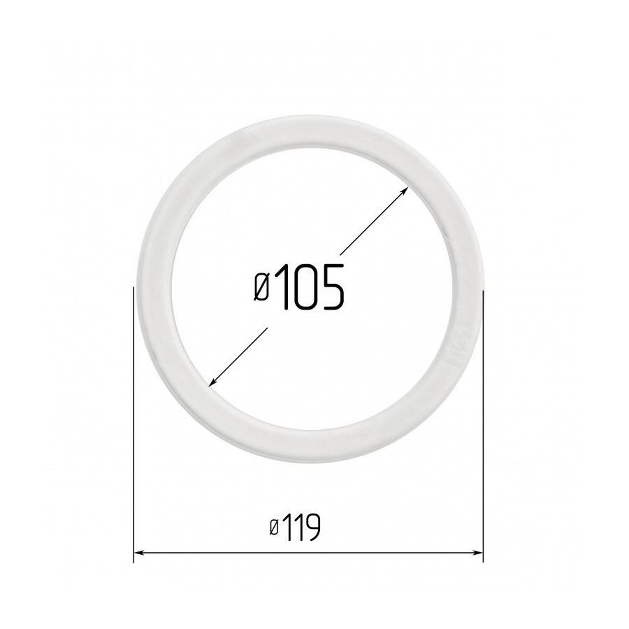 Протекторное термокольцо для натяжных потолков - диаметр 105 мм (наружный 119мм)
