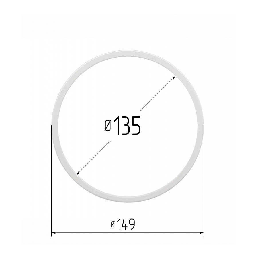 Протекторна термокільце для натяжних стель - діаметр 135 мм (зовнішній 148,6 мм)