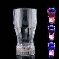 Светящийся LED стакан для напитков с мигающей разноцветной подсветкой для различных праздников и торжеств