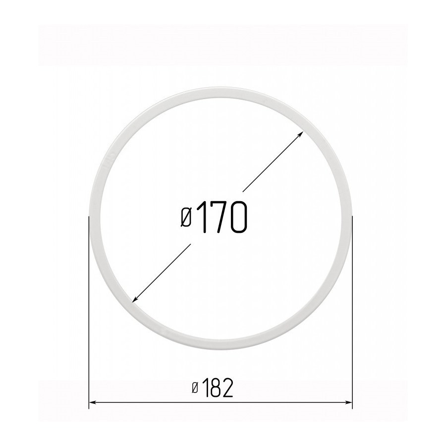 Протекторное термокольцо для натяжных потолков - диаметр 170 мм (наружный 182мм)