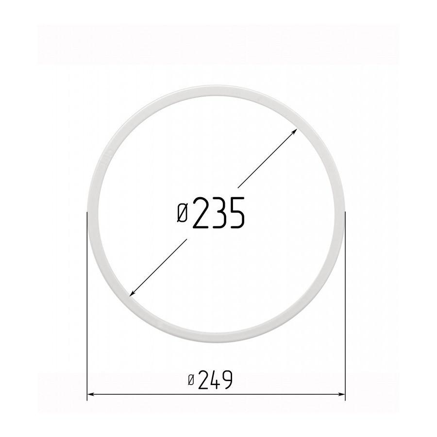 Протекторное термокольцо для натяжных потолков - диаметр 235 мм (наружный 249мм)