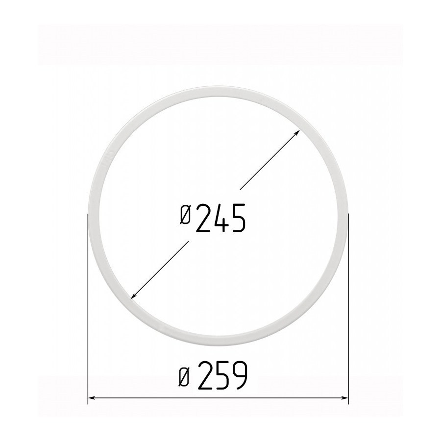 Протекторное термокольцо для натяжных потолков - диаметр 245 мм (наружный 259мм)