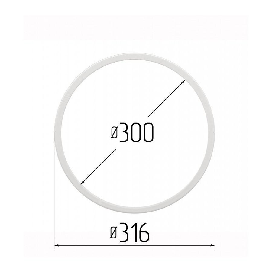 Протекторное термокольцо для натяжных потолков - диаметр 300 мм (наружный 316мм)