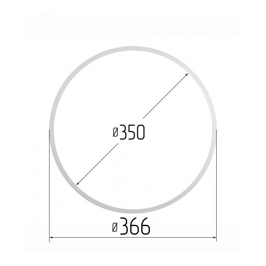 Протекторна термокільце для натяжних стель - діаметр 350 мм (зовнішній 366мм)