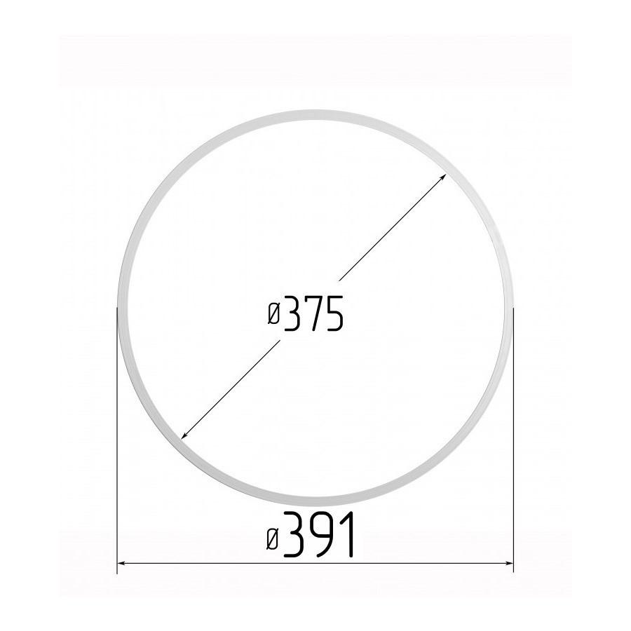 Протекторное термокольцо для натяжных потолков - диаметр 375 мм (наружный 391мм)