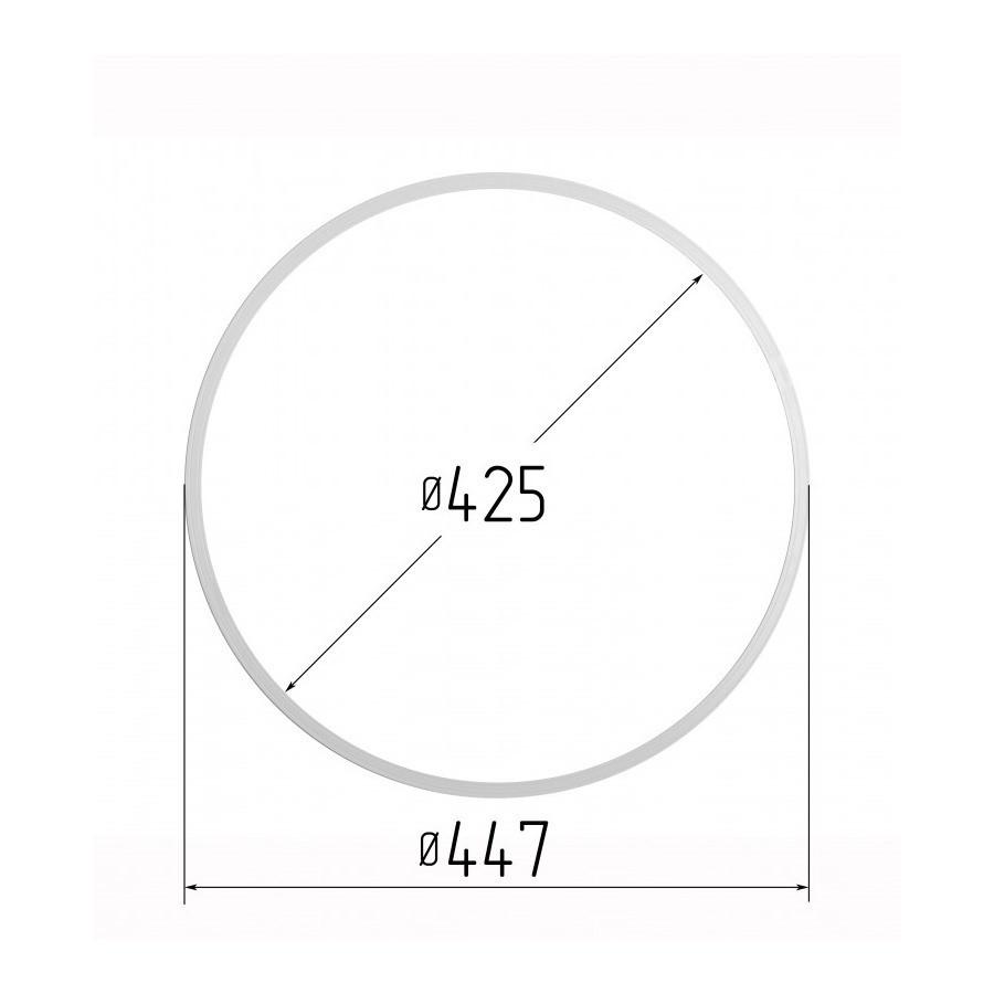 Протекторное термокольцо для натяжных потолков - диаметр 425 мм (наружный 447мм)