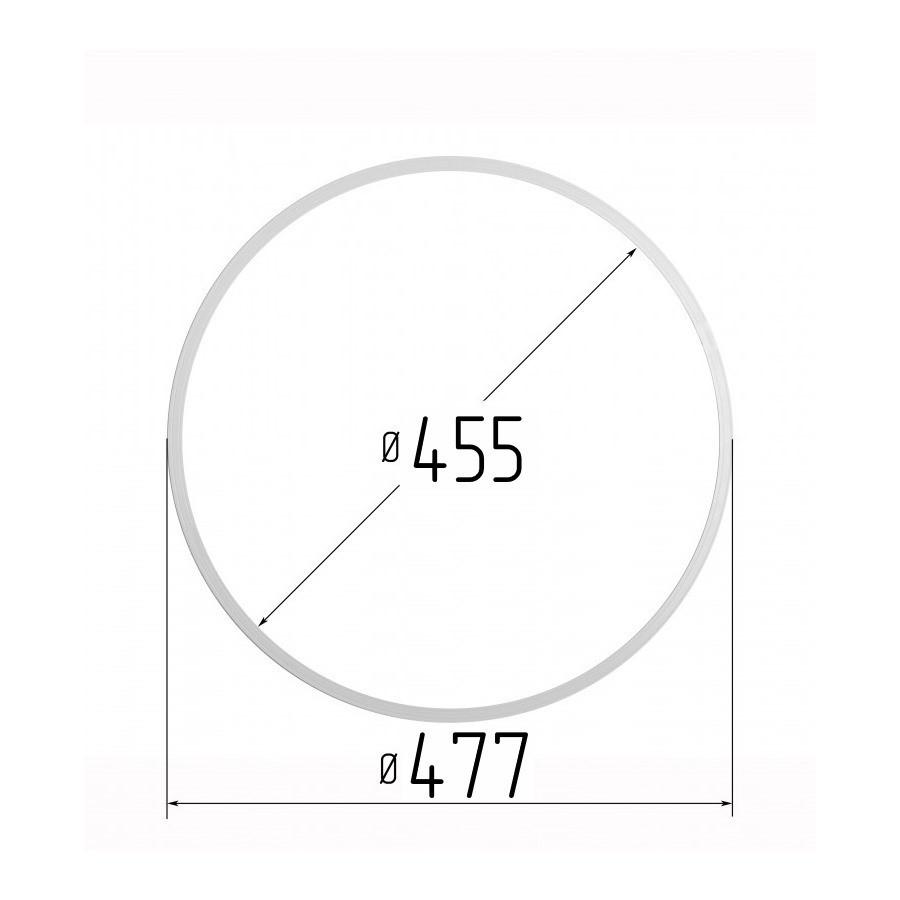 Протекторное термокольцо для натяжных потолков - диаметр 455 мм (наружный 477мм)