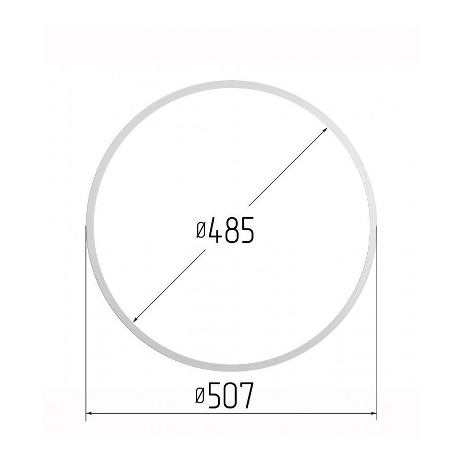 Протекторна термокільце для натяжних стель - діаметр 485 мм (зовнішній 507мм)