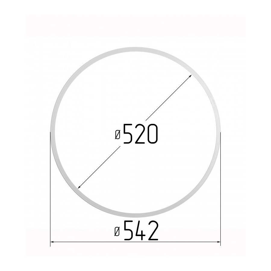 Протекторное термокольцо для натяжных потолков - диаметр 520 мм (наружный 542мм)