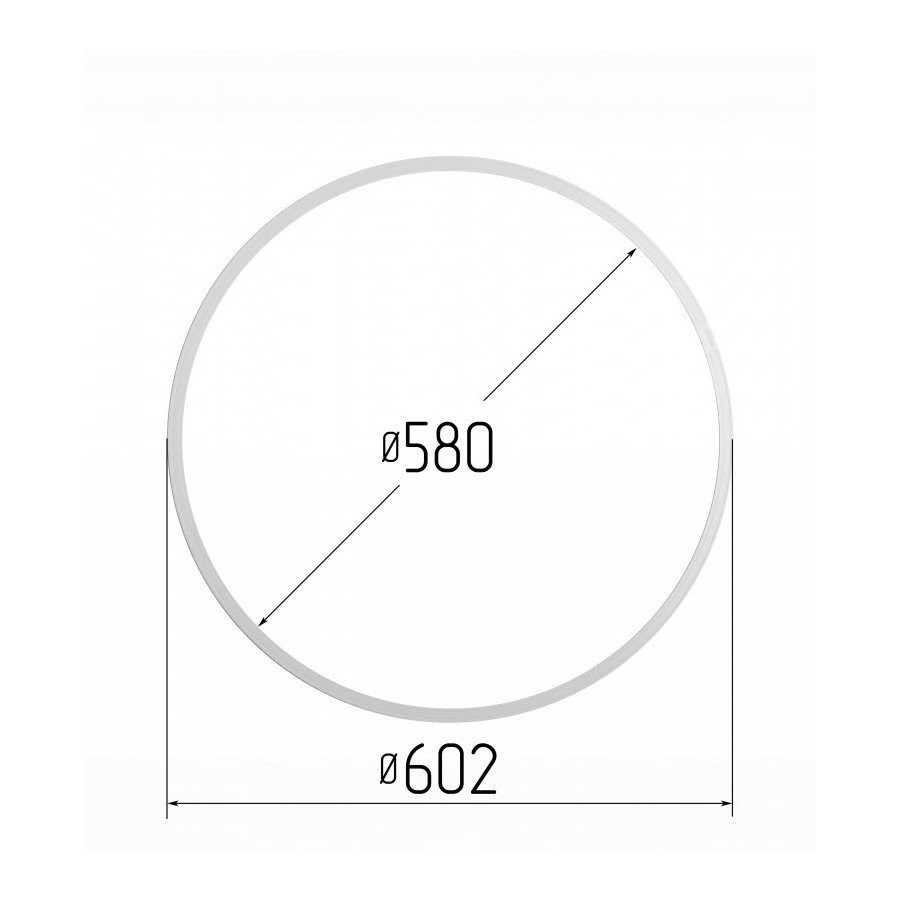 Протекторное термокольцо диаметр 580 мм (наружный 602мм)