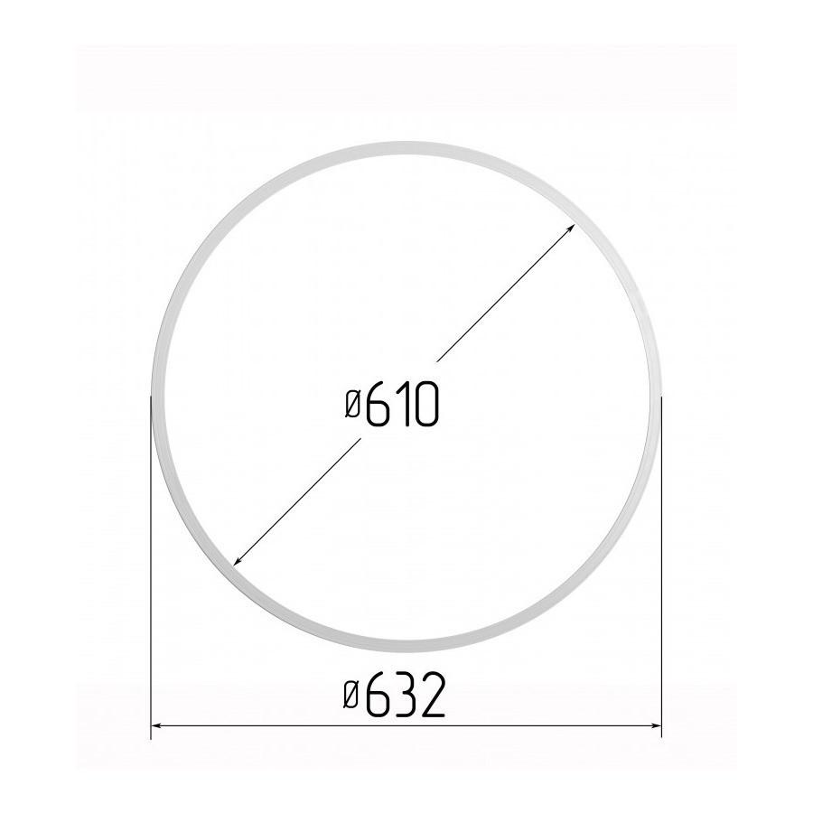Протекторное термокольцо для натяжных потолков - диаметр 610 мм (наружный 632мм)