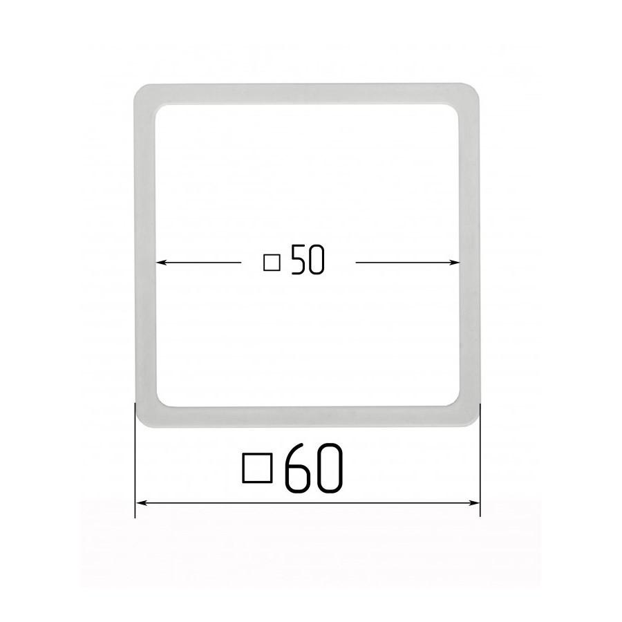 Термоквадрат для натяжних стель 50х50мм (внутрішній розмір) 60х60 мм (зовнішній розмір)