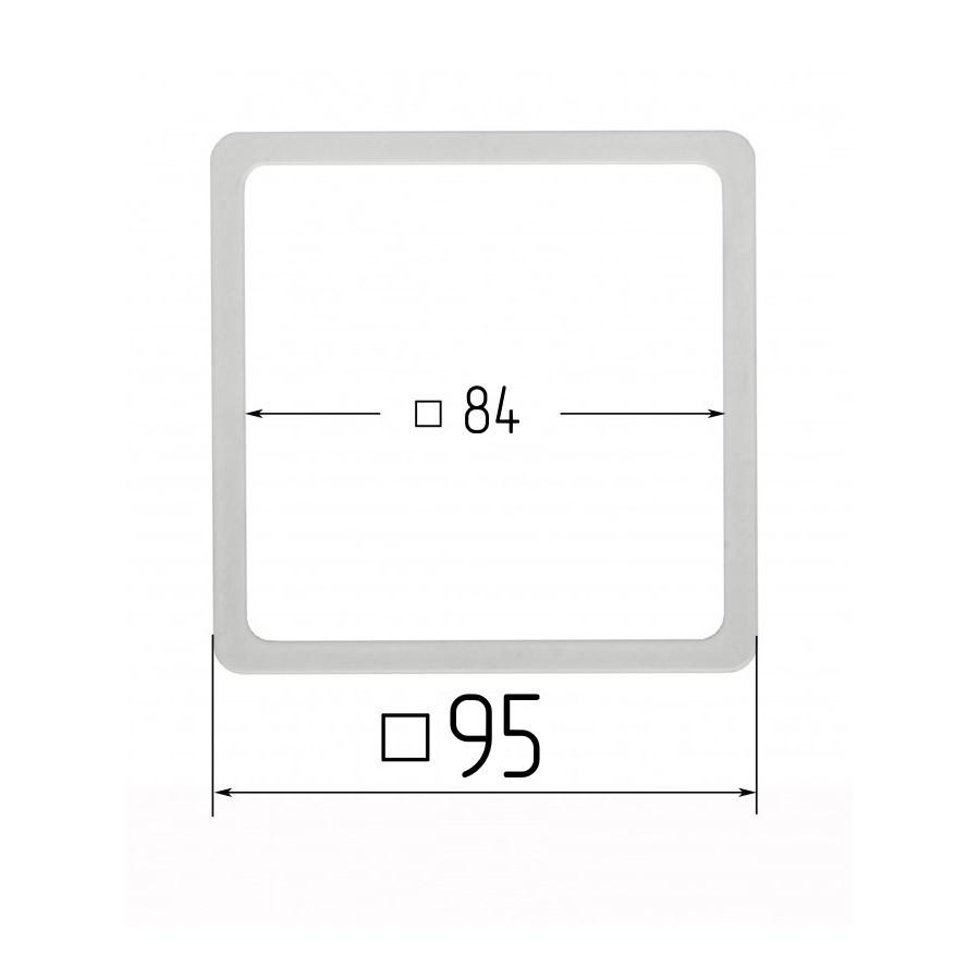 Термоквадрат для натяжних стель 84х84мм (внутрішній розмір) 95х95 мм (зовнішній розмір)