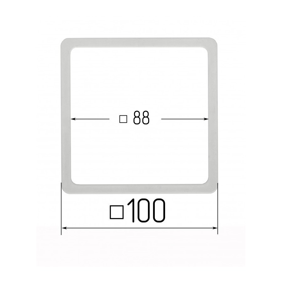 Термоквадрат для натяжных потолков 88х88мм (внутренний размер) 100х100 мм (наружный размер)