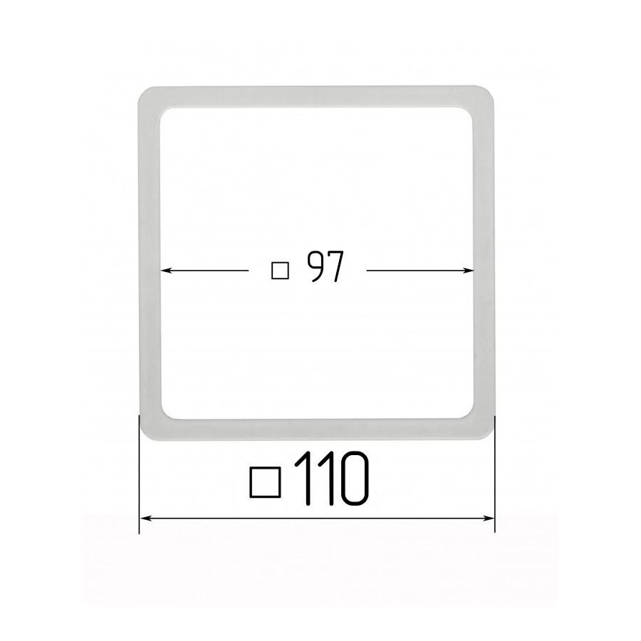 Термоквадрат для натяжних стель 97х97мм (внутрішній розмір) 110х110 мм (зовнішній розмір)