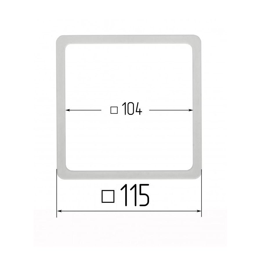 Термоквадрат для натяжних стель 104х104мм (внутрішній розмір) 115х115 мм (зовнішній розмір)