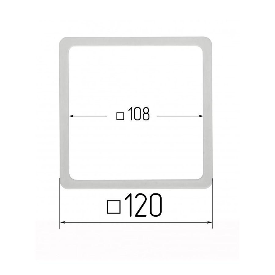 Термоквадрат для натяжных потолков 108х108мм (внутренний размер) 120х120 мм (наружный размер)