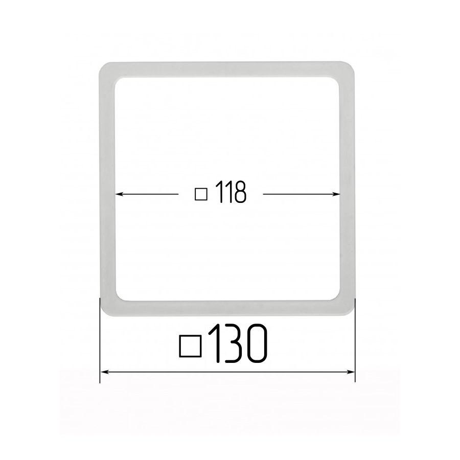 Термоквадрат для натяжних стель 118х118мм (внутрішній розмір) 130х130 мм (зовнішній розмір)