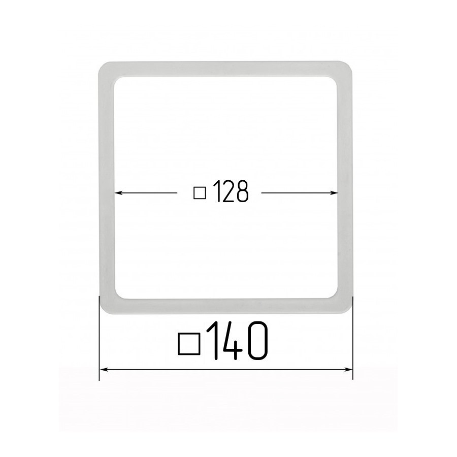 Термоквадрат 128х128мм (внутренний размер) 140х140 мм (наружный размер)
