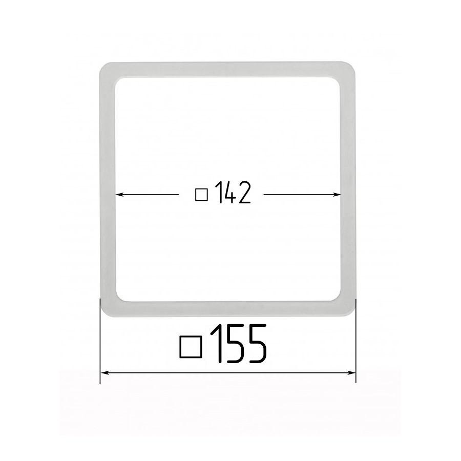 Термоквадрат 142х142мм (внутренний размер) 155х155 мм (наружный размер)