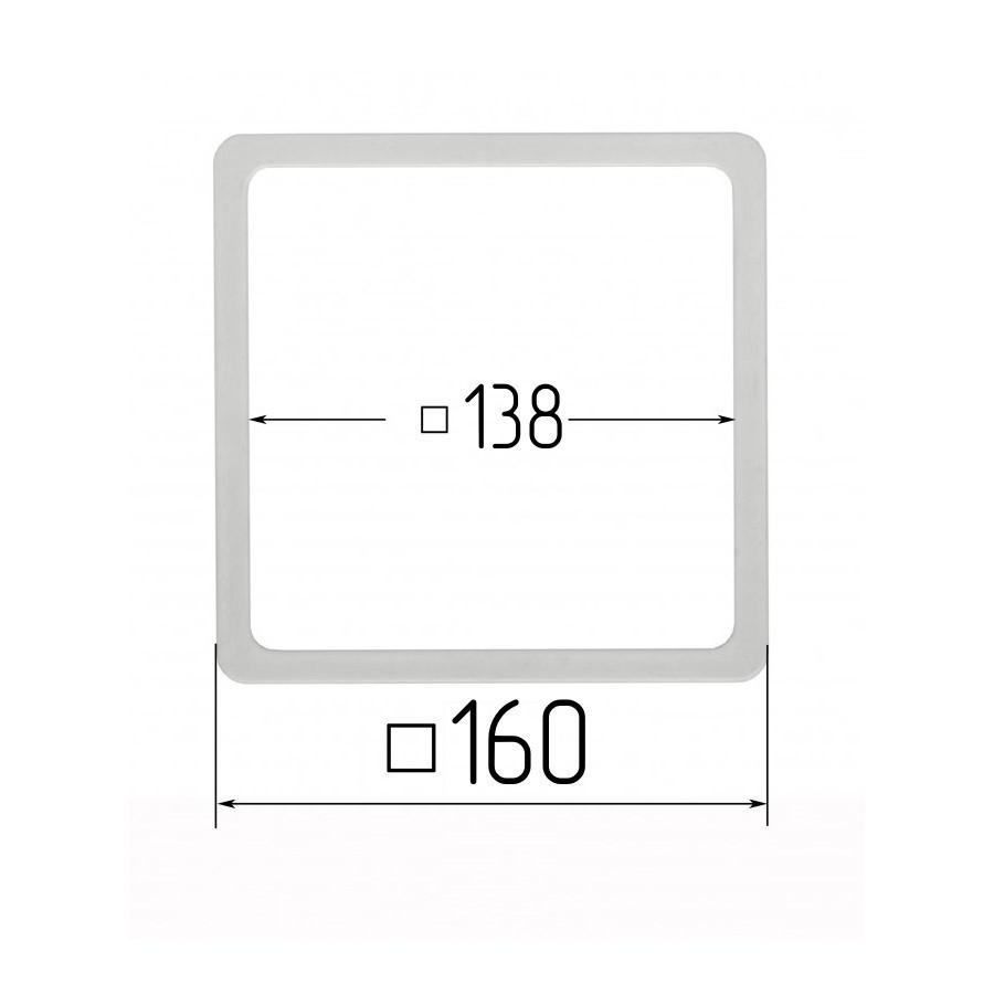 Термоквадрат для натяжных потолков 148х148мм (внутренний размер) 160х160 мм (внутренний размер)