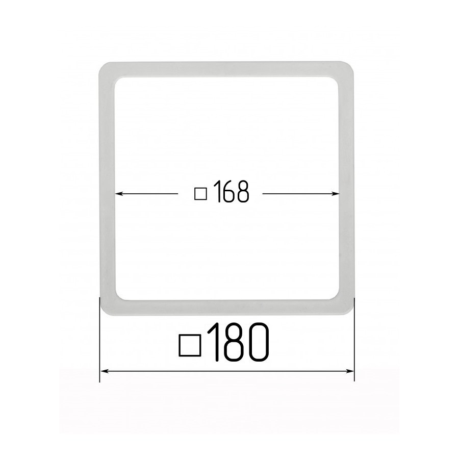 Термоквадрат для натяжних стель 168х168мм (внутрішній розмір) 180х180 мм (зовнішній розмір)