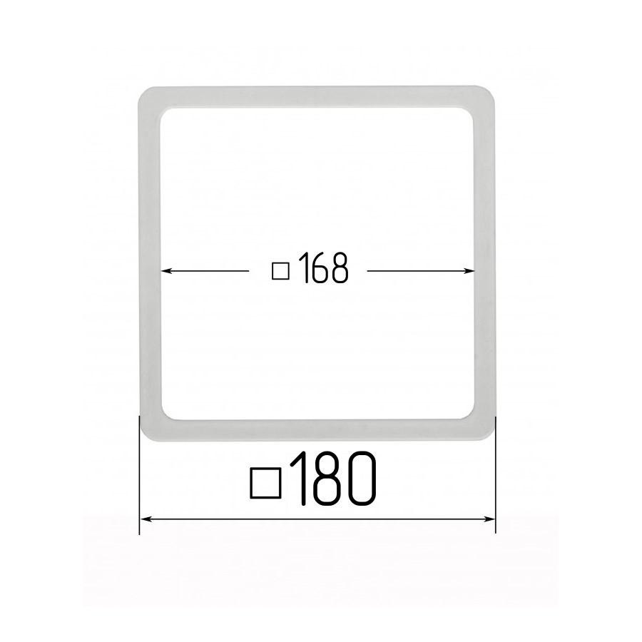 Термоквадрат для натяжных потолков 168х168мм (внутренний размер) 180х180 мм (наружный размер)