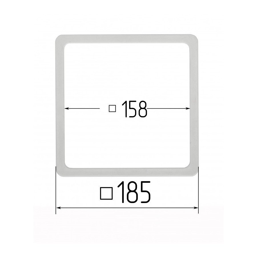 Термоквадрат 158х158мм (внутренний размер) 185х185 мм (наружный размер)
