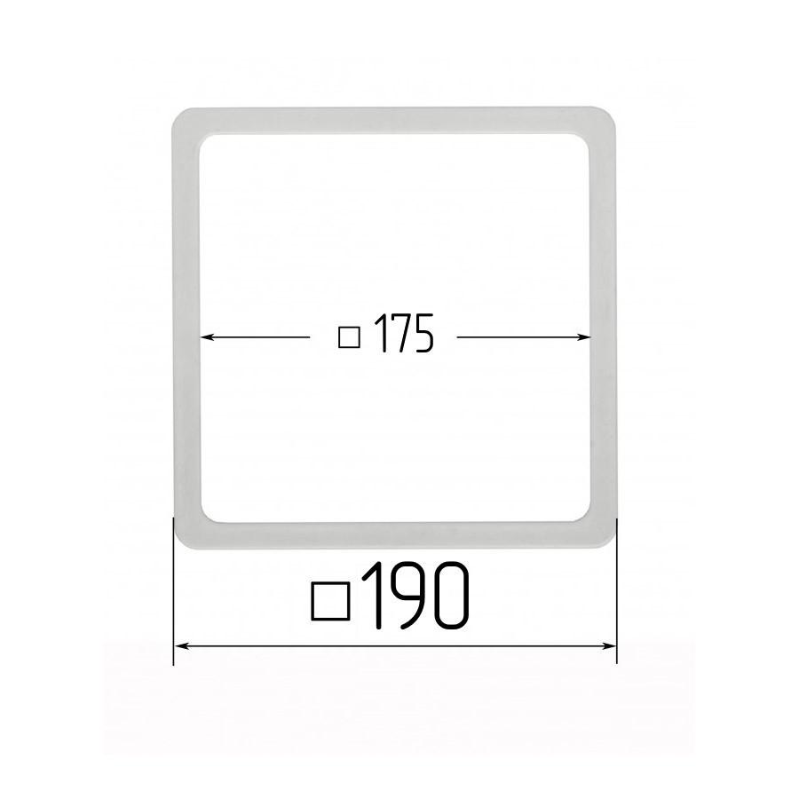Термоквадрат для натяжных потолков 175х175мм (внутренний размер) 190х190 мм (наружный размер)