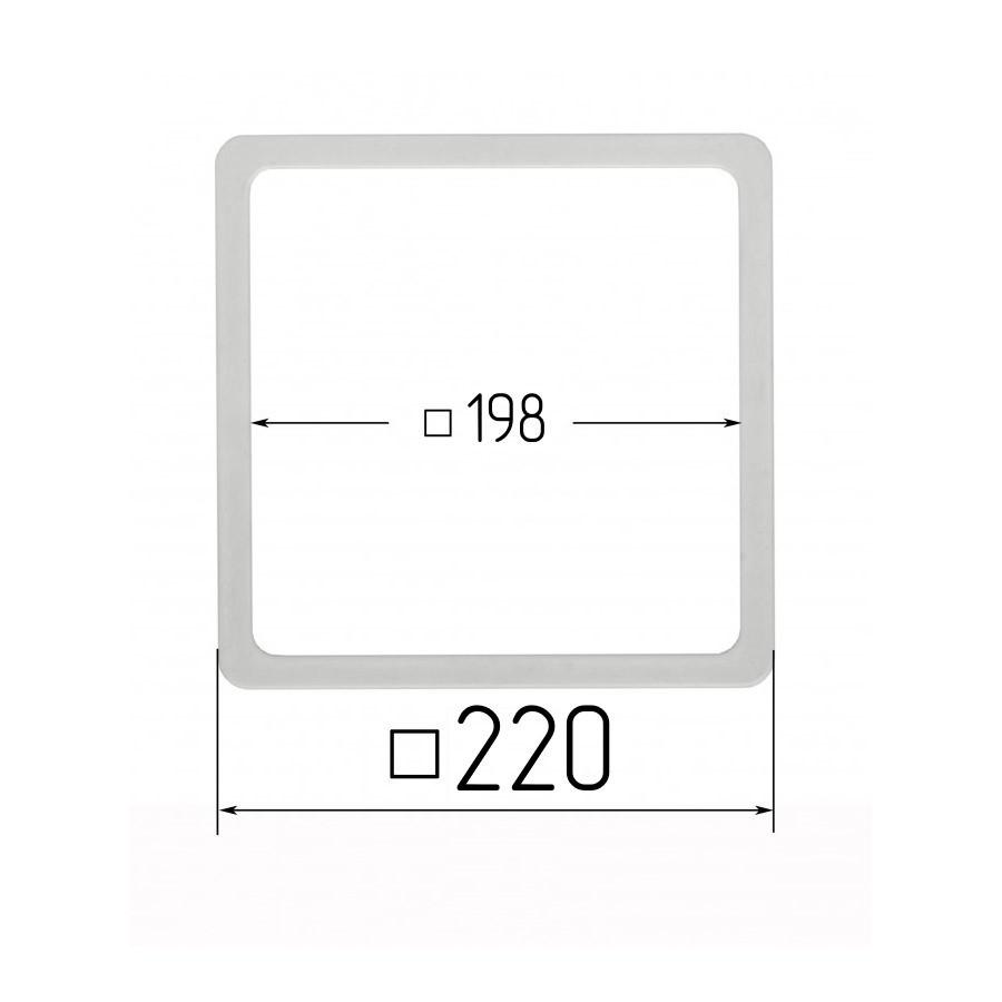 Термоквадрат для натяжных потолков 198х198мм (внутренний размер) 220х220 мм (наружный размер)