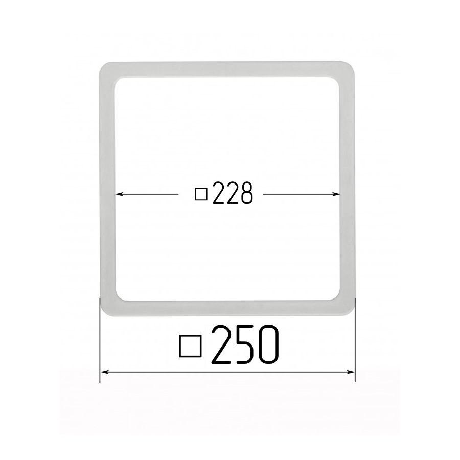Термоквадрат для натяжних стель 228х228мм (внутрішній розмір) 250х250 мм (зовнішній розмір)
