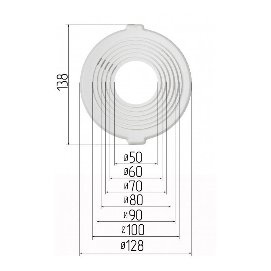 Платформа универсальная для встроенных светильников диаметром 50-100 мм (шаг 10мм)