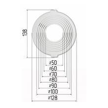 Платформа универсальная для встроенных светильников диаметром 50-100 мм (шаг 10 мм) для монтажа натяжных