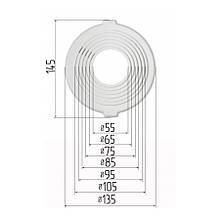Платформа универсальная для встроенных светильников диаметром 55-105 мм (шаг 10 мм) для монтажа натяжных
