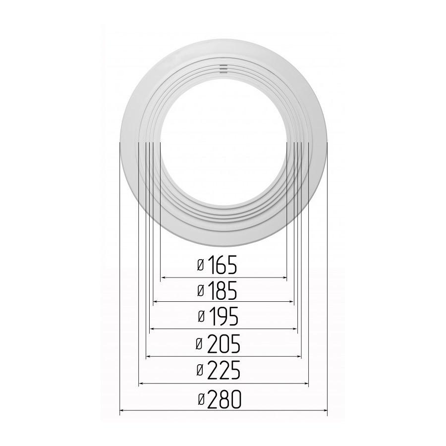 Платформа универсальная для встроенных светильников диаметром 165-225мм (шаг 10 мм) для монтажа натяжных потолков