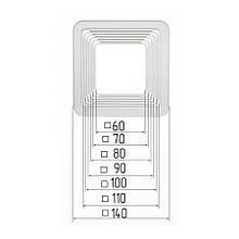 Платформа универсальная квадратная для встроенных светильников размерами 60-140мм (шаг 10 мм) для монтажа