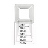 Платформа универсальная квадратная для встроенных светильников размерами 150-200мм (шаг 10 мм) для монтажа натяжных потолков