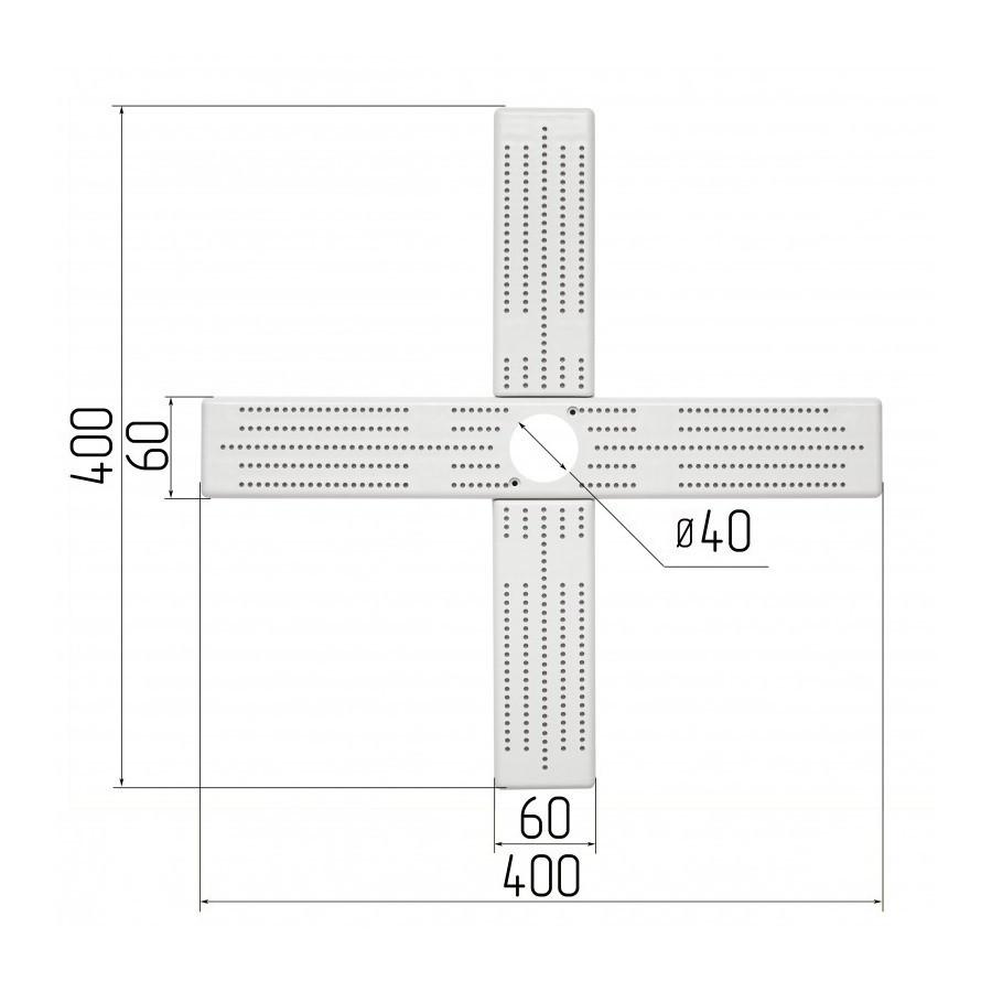 Хрестовина для кріплення світильників, для монтажу натяжних стель