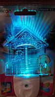 """Светильник ночной ( ночник) Feron FN1104 """"Домик"""" RGB"""