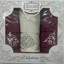 Махровые полотенца «Gulkan» в подарочной коробке (3 шт)