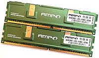 Пара оперативной памяти Wintec AMPO DDR2 4Gb (2Gb+2Gb) 667MHz PC2 5300U CL5 2R8 (3AMD2667-2G2-R) Б/У, фото 1